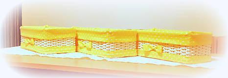 Košíky - Odkladáčik v žltom - 11435515_