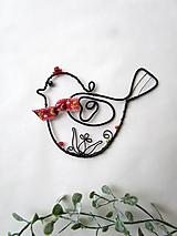 Dekorácie - vtáčik s ornamentom - 11434837_