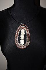 Náhrdelníky - náhrdelník boho-zipsový IV - 11436686_