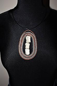 Náhrdelníky - náhrdekník boho-zipsový IV - 11436686_
