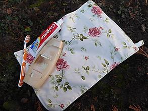Úžitkový textil - uterák na tvár kvety-biobavlna - 11436486_