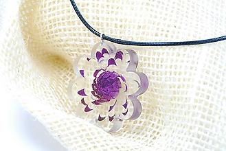 Náhrdelníky - Zamrznutý kvietok - Slamienka náhrdelník na krk - 11436700_