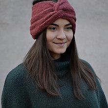 Čiapky - Turban čelenka...tehlová - 11436693_