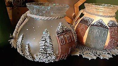 Dekorácie - Vianočné svetielko - 11436572_