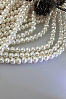 Minerály - perly 8-9mm korálky - pravá prírodná perla - 11438739_