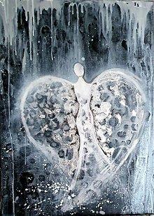 Obrazy - Zimný anjel - 11438844_