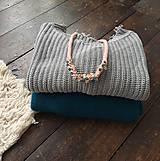 Náhrdelníky - Pudrový pošitý perlami - 11439702_