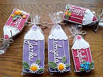 Dekorácie - veselé pastelky pre detičky a pani učiteľky (veľkosť 10 cm) - 11438642_