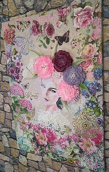 """Obrazy - Nádherný, veľký 3D obraz """"Žena s kvetmi""""  - 11439812_"""