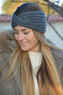 Ozdoby do vlasov - čelenka v šedém melíru - 11440060_
