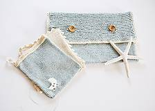 Detské doplnky - Pletená taška na plienky - 11441195_