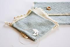 Detské doplnky - Pletená taška na plienky - 11441196_