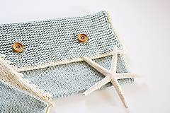 Detské doplnky - Pletená taška na plienky - 11441197_