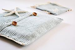 Detské doplnky - Pletená taška na plienky - 11441198_