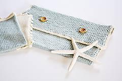 Detské doplnky - Pletená taška na plienky - 11441199_