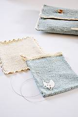 Detské doplnky - Pletená taška na plienky - 11441201_