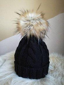 Detské čiapky - Čiapka čierna - 11440169_