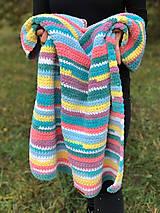 Textil - Háčkovaná deka FUNNY BABY - 11439934_