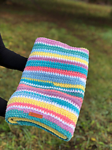 Textil - Háčkovaná deka FUNNY BABY - 11439935_
