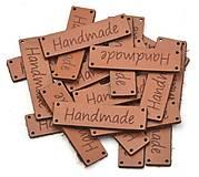 NT120 Nášivka kožená handmade 4,9 x 1,4 cm (Hnedá 2)