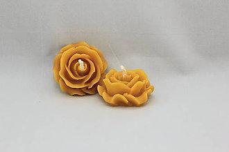 Svietidlá a sviečky - Ruža zo včelieho vosku - 11441363_