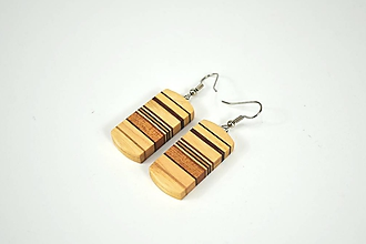 Náušnice - Náušnice drevené - chirurgická oceľ, javor, jaseň, mahagón... - 11441531_