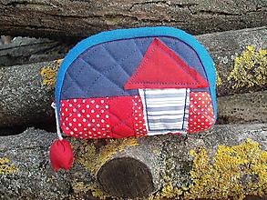 Taštičky - taštička červená s domčekom - 11441746_