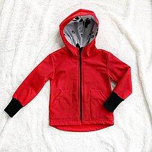 Detské oblečenie - Softhellová bunda červená - 11441383_