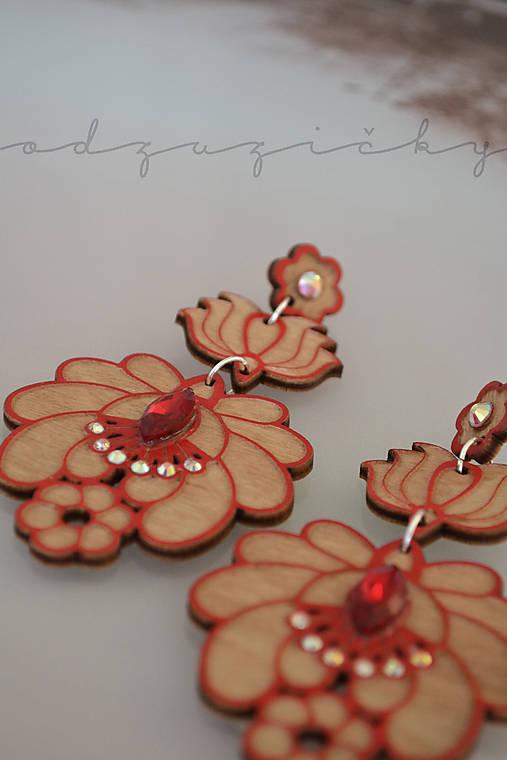 Náušničky Marienka  (Červená)
