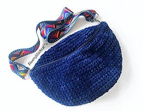 Kabelky - Ľadvinka háčkovaná kabelka plyšová s popruhom plyš (Béžová) - 11441506_
