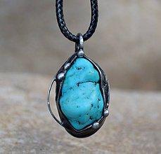 Náhrdelníky - Tyrkenit náhrdelník/prívesok - 11442033_