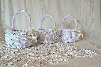 Košíky - Košík svadobný, guľatý / ks - 11440526_