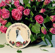 Darčeky pre svadobčanov - Svadobná magnetka - 11443265_