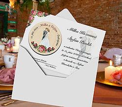 Papiernictvo - Svadobná pozvánka s magnetkou - 11443287_