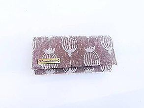 Peňaženky - Priehradková peňaženka zo scrapu Sestrice Poppy White - 11444242_