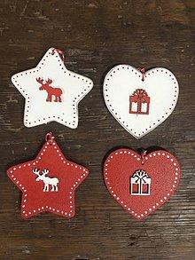 Dekorácie - Sada vianočných ozdôb - Červeno biela - 11445000_