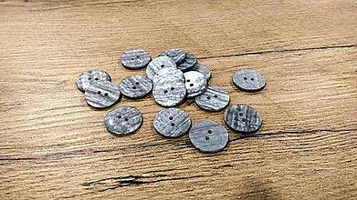 Galantéria - Plastový gombík - 23 mm - šedá perleť - 11444580_
