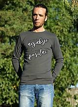 Oblečenie - Pánske tričko s dlhým rukávom - porekadlo 1 - 11444772_