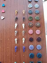 Náušnice - Zipsy náušnice puzetky (rôzne farby) - 11443769_