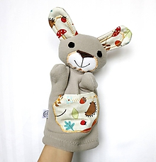Hračky - Maňuška zajac - Zajko zo Svetlého lesa - 11443300_