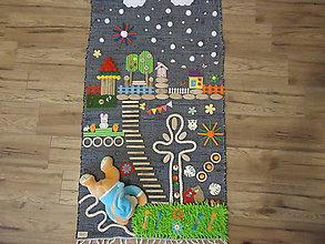 Úžitkový textil - Senzorický koberček MACKO - 11443177_
