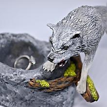 """Prstene - Vlk - pre """"vlčicu"""" na prstene a iné poklady - 11444329_"""