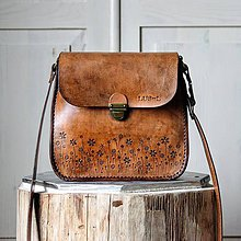 Kabelky - Kožená kabelka Antique leather-tan - 11443658_