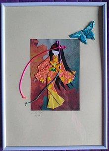 Dekorácie - Malé Japonky v kimone - 11443218_