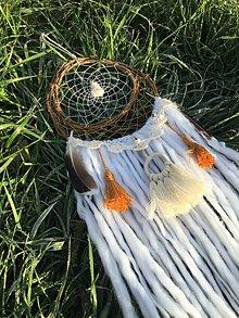Dekorácie - Nomádsko-indiánsky Lapač snov- Boho - 11444853_