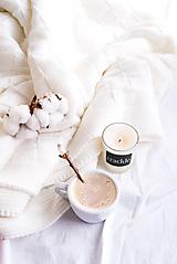 Svietidlá a sviečky - Sójová sviečka - Čistá bavlna - 11444505_