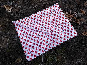 Taštičky - cestovná taška nepremokavá-srdce - 11443335_