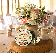 Darčeky pre svadobčanov - Svadobná magnetka - 11446123_