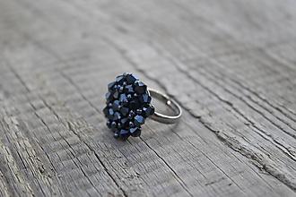 Prstene - prsteň hematitový z bikoniek - 11446268_