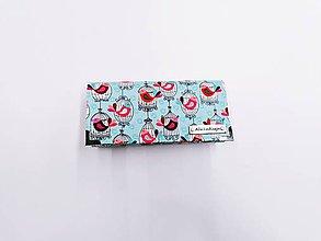 Peňaženky - Peňaženka vtáčiky v klietke na mentolovom - 11447072_